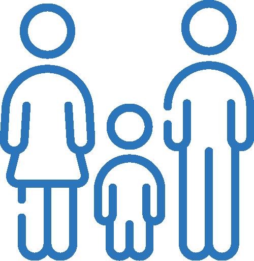 Icône droit de la famille