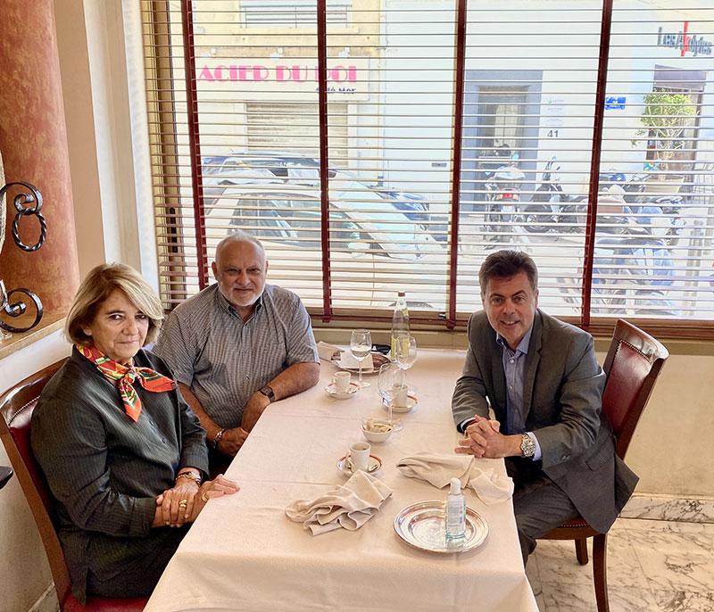Repas de travail  avec le président De Gesica  à Marseille