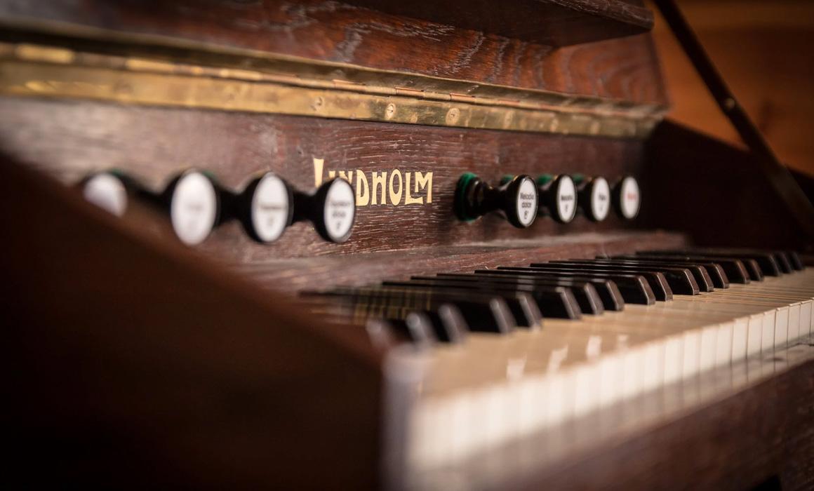 Clavier d'un vieux piano