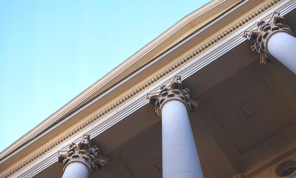 Fronton d'un bâtiment classique