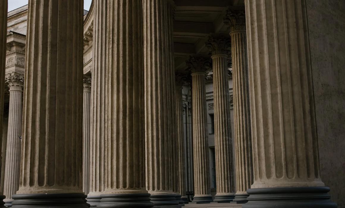 Colonnes d'un bâtiment classique