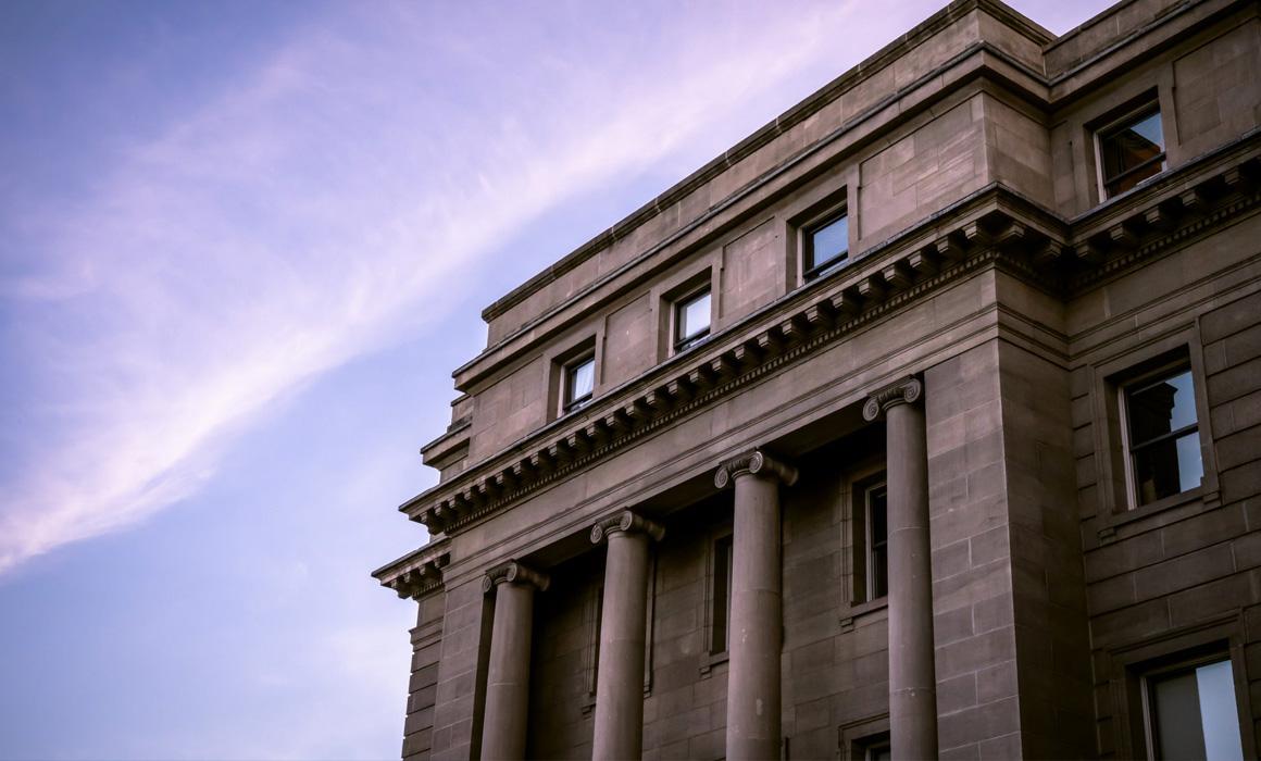 Devanture d'un bâtiment classique