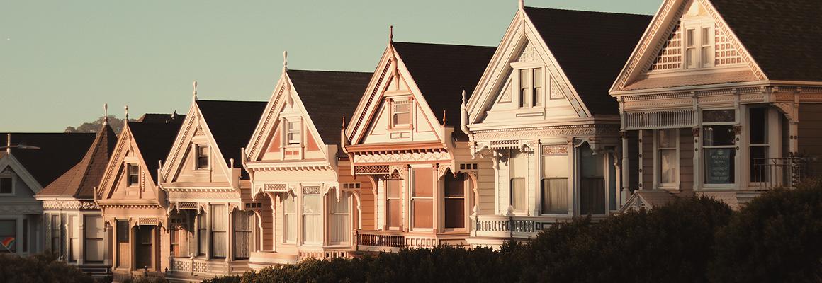 Alignement de résidences pavillonnaires